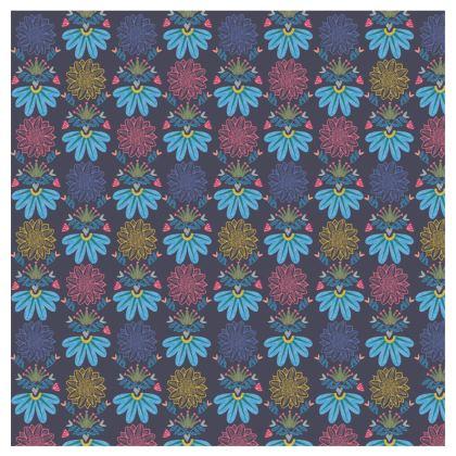 Blue Floral Craft  Handbag