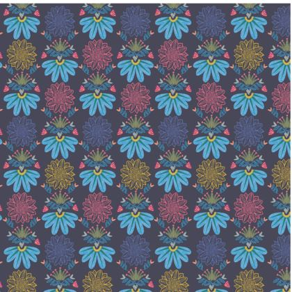 Blue Floral Craft Espadrilles