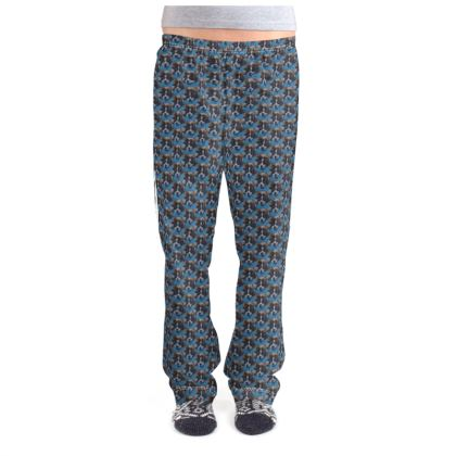 Mr Monkie Puzzle the Saint Bernard Fine Art Print Ladies Pyjama Bottoms by Somerset (UK) Artist and Designer Amanda Boorman