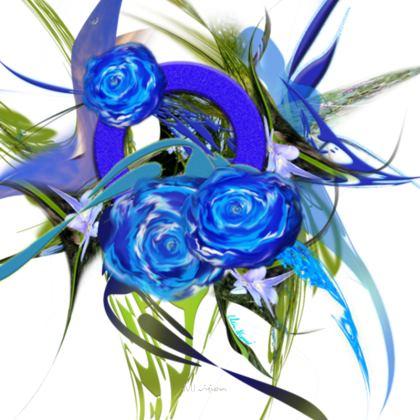 Coasters - Glasunderlägg - Blue flower