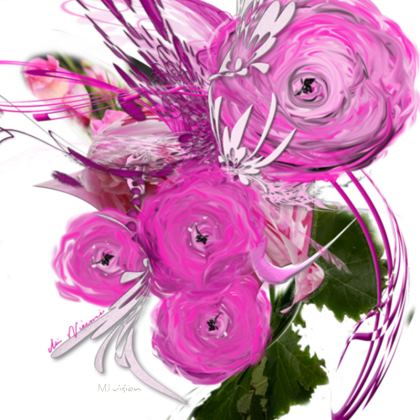Coasters - Glasunderlägg - Pink Summer Fantasy