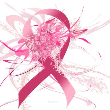 Coasters - Glasunderlägg - Pink Flowers Ribbon