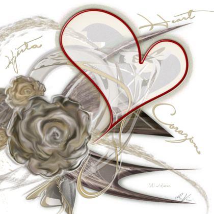 Coasters - Glasunderlägg - Brown Heart