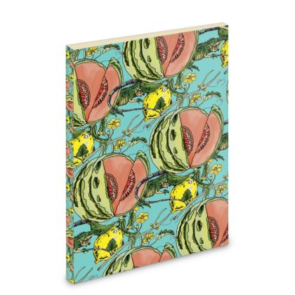 Blue Pocket Note Book - Melon Print
