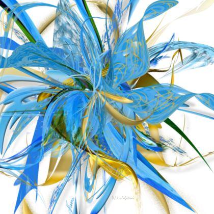 Coasters - Glasunderlägg - Golden Blue