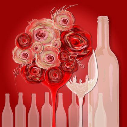 Coasters - Glasunderlägg - Wine red