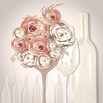 Coasters - Glasunderlägg - Wine beige