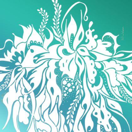 Coasters - Glasunderlägg - Ink summer feeling Turquoise