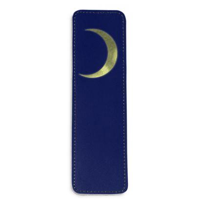 Leather Bookmarks - Vinyl Moon