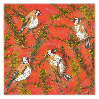 Goldfinches in Gorse Scarf, Wrap or Shawl