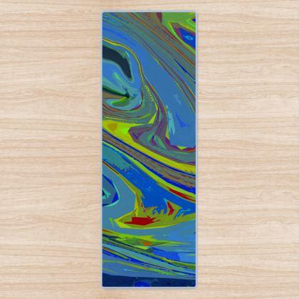 Yoga Mat - Abstract Diesel Rainbow 3