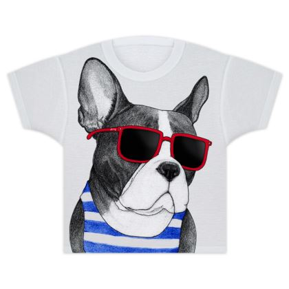 Frenchie Summer Style Kids T Shirts