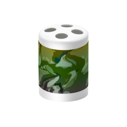 Toothbrush Holder - Honeycomb Marble Abstract 4