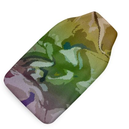 Hot Water Bottle - Honeycomb Marble Abstract 4