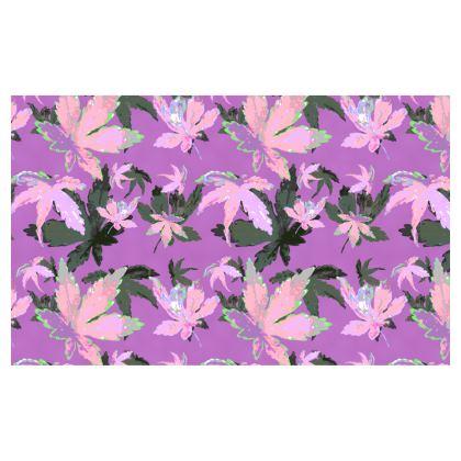 Zip Top Handbag Regal Leaves lilac