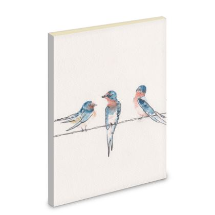 Liberty Pipits Feathered Friends of the countryside Southbound Swallows Notebook