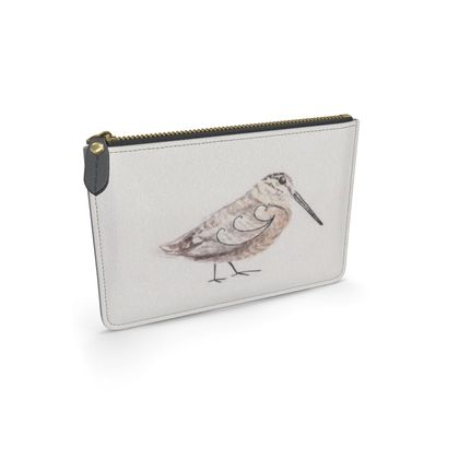 Wandering Wood Feathered friends of the Countryside Leather Pouch