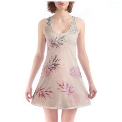 Pastel Pineapple Watercolour Beach Dress
