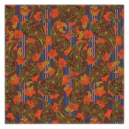 Paisley Stripe Scarf, Wrap or Shawl