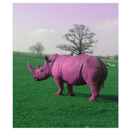 Curtains (116cmx137cm) - Pink Rhino