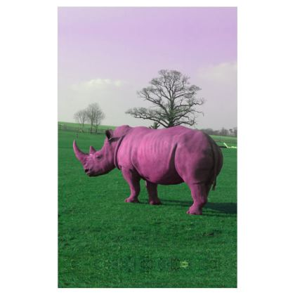 Curtains(116cmx182cm) - Pink Rhino