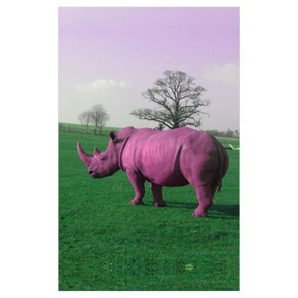 Voile Curtains - (116cmx182cm) - Pink Rhino