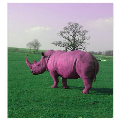 Voile Curtains - (167cmx182cm) - Pink Rhino