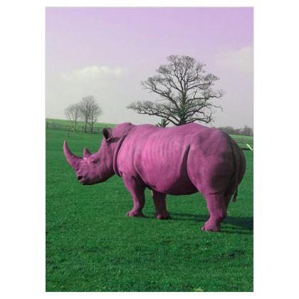 Voile Curtains - (167cmx229cm) - Pink Rhino