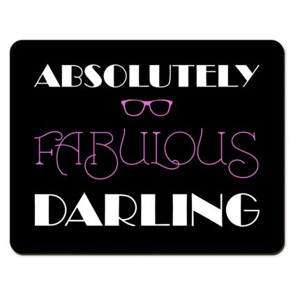 Placemats - Absolutely Fabulous Darling - ABFAB (White text)