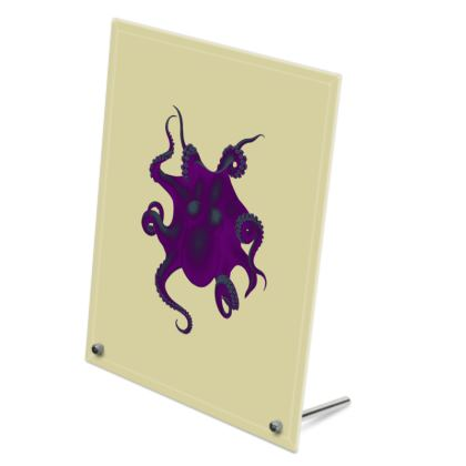Glass Frame - Purple Octopus