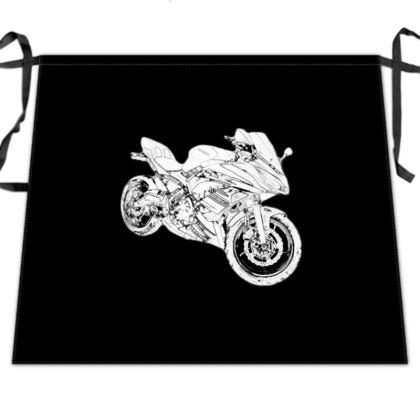 Waist Apron - Superbike Sketch