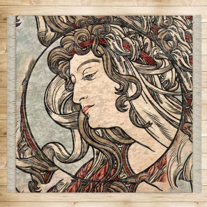 Rugs - Alphonse Maria Mucha Stained Glass #5
