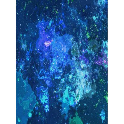 Large Tray - Blue Nebula Galaxy Abstract