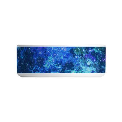 Ceramic Bowls - Blue Nebula Galaxy Abstract