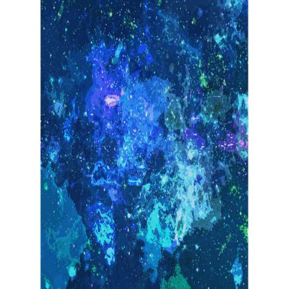 Small Tray - Blue Nebula Galaxy Abstract