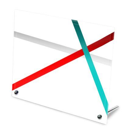 Glass Frame - Regal Stripes (White)