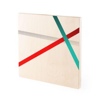 Wood Prints - Regal Stripes (White)