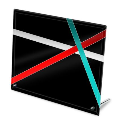 Glass Frame - Regal Stripes (Black)