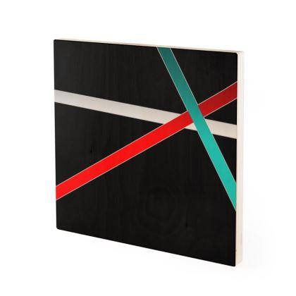 Wood Prints - Regal Stripes (Black)
