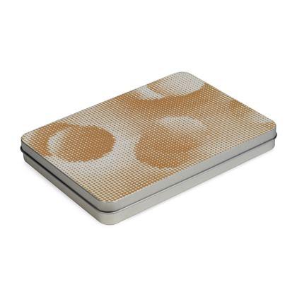Tin Box Hinge Lid - Endleaves of Art. Taste. Beauty (1932) Orange Remix