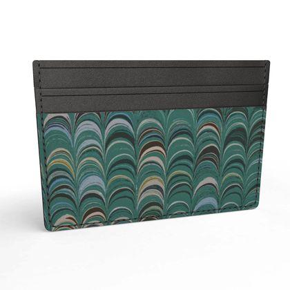 Leather Card Holder - Around Ex Libris Jade Remix (1800 -1950)