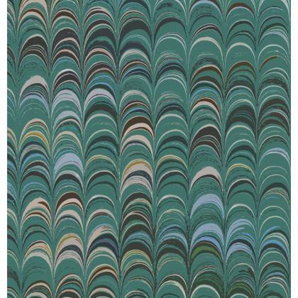 Zip Top Handbag - Around Ex Libris Jade Remix (1800 -1950)
