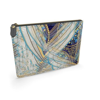 Ma'at Wings Circles - Leather Pouch
