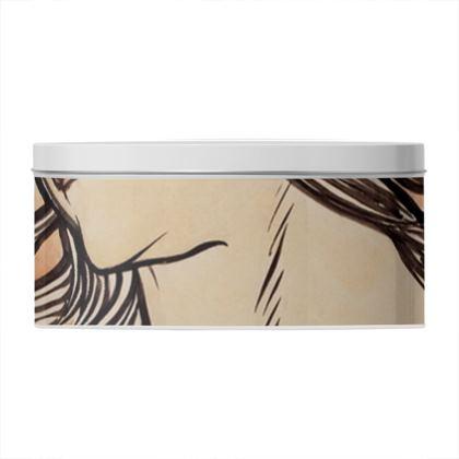 Round Tin - Alphonse Maria Mucha Stained Glass #1