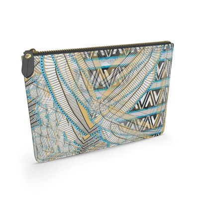 Ma'at Wings Triangles - Leather Pouch