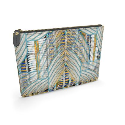 Ma'at Wings Repeat - Leather Pouch
