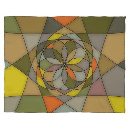Scarf Wrap Or Shawl - Yellow spiral