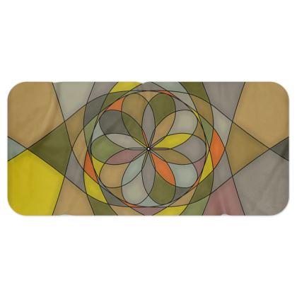 Blanket Scarf - Yellow spiral