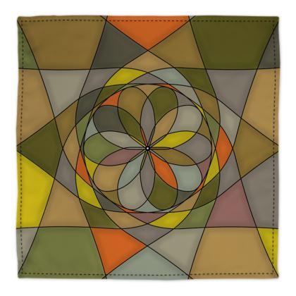 Bandana - Yellow spiral