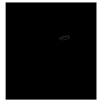 Ladies T Shirt - Fully Enhanced Reclining Nude Woman (White)